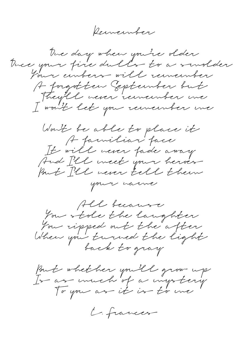 Catherine Frances - Remember.jpg