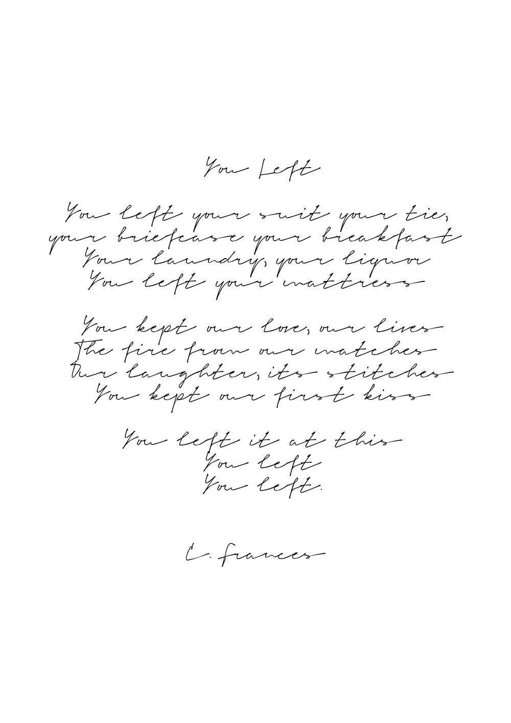 Catherine Frances - You Left.jpg