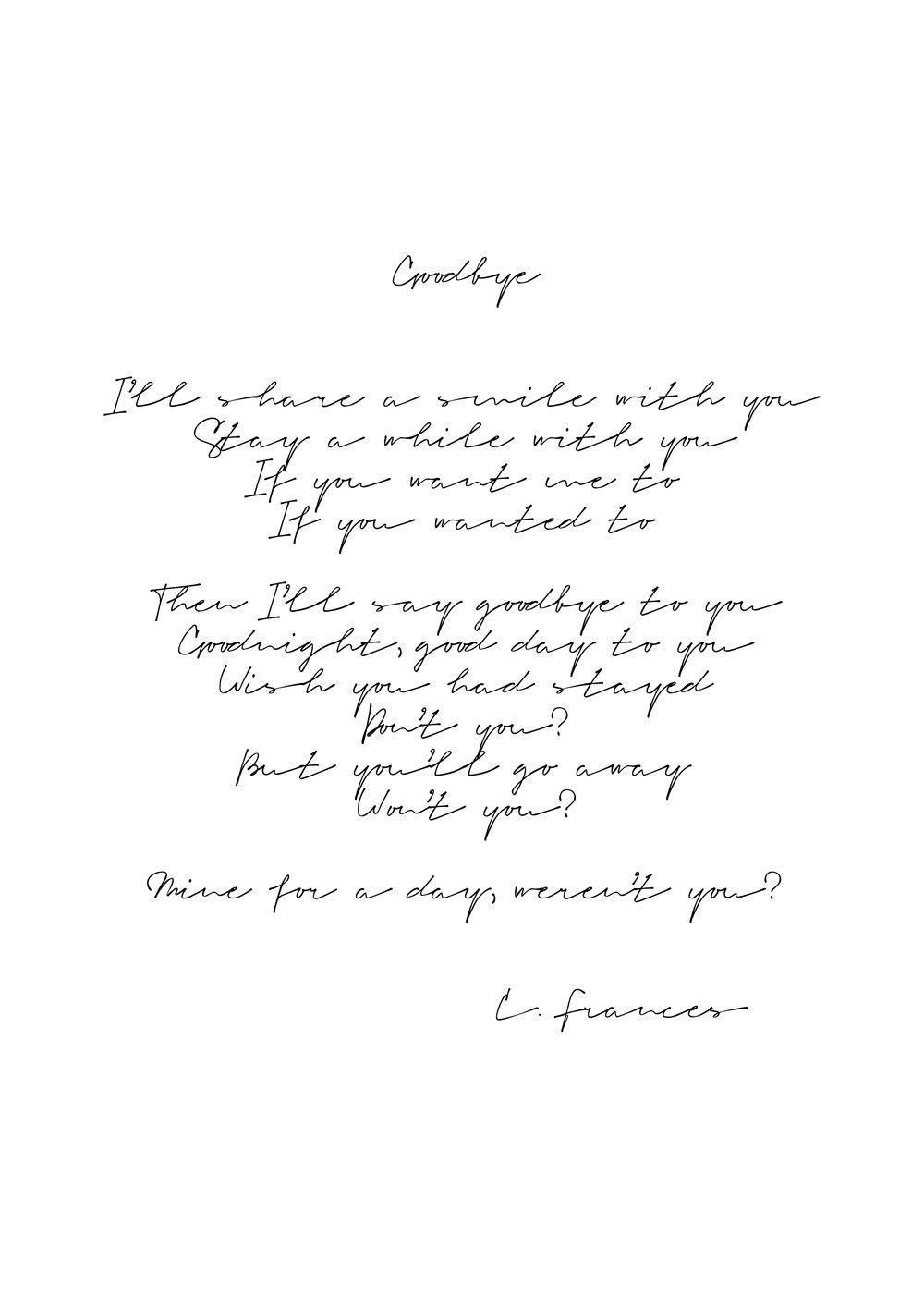 Catherine Frances - Goodbye.jpg