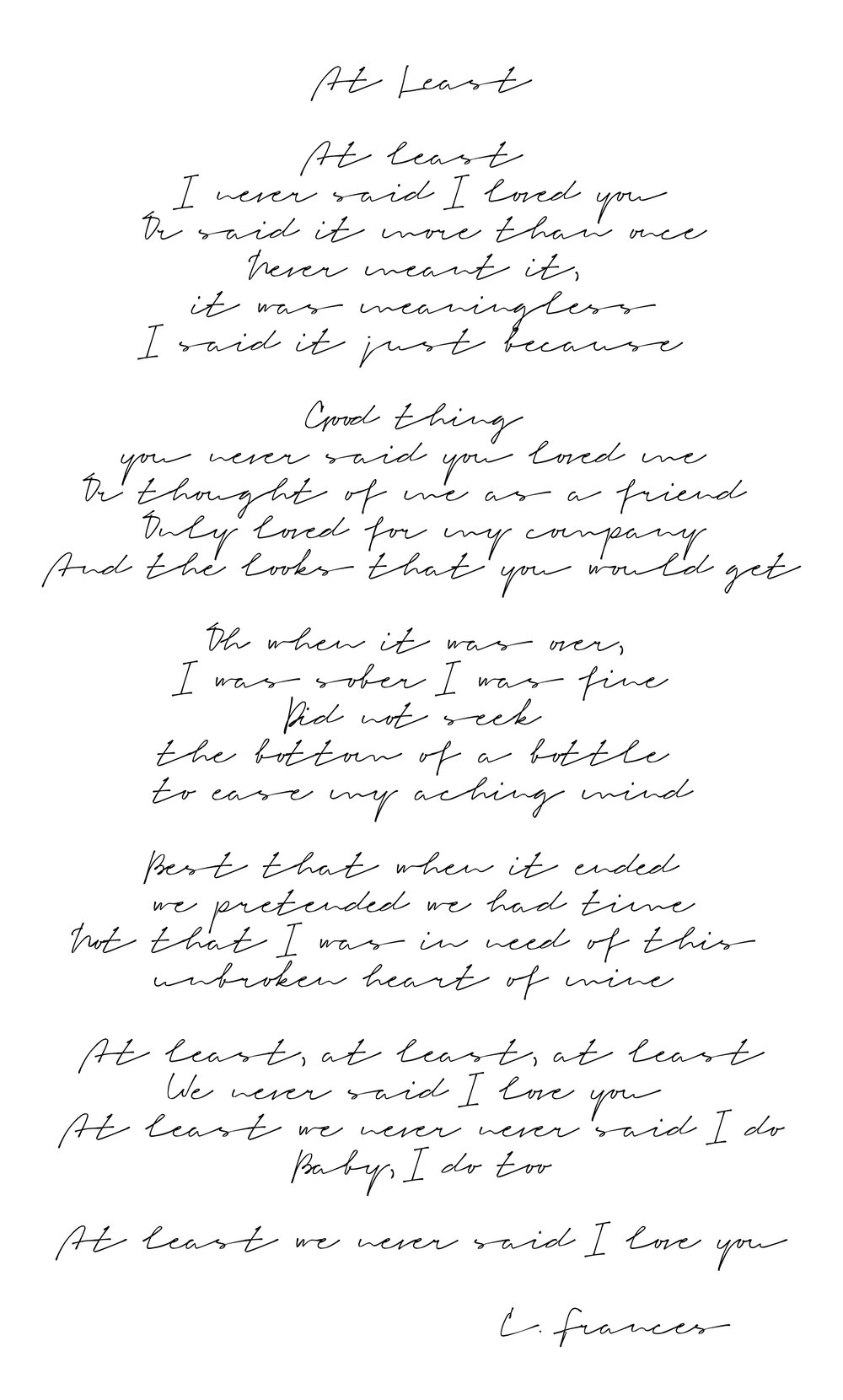 Catherine Frances - At Least.jpg
