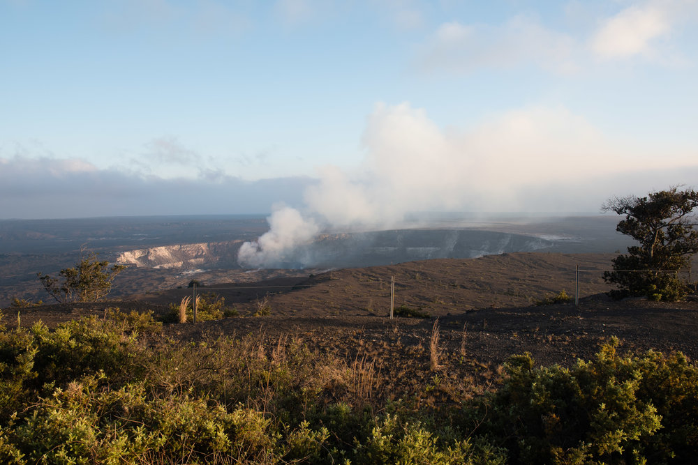 Kilauea Caldera as seen from the jaguar Museum.