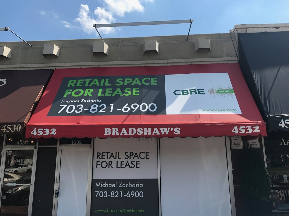 items signage sign prdirect storefront signs awning and custom industrial