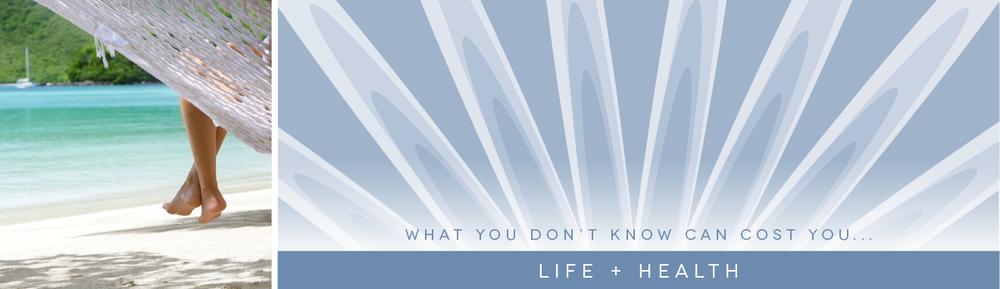 Life + Health Banner