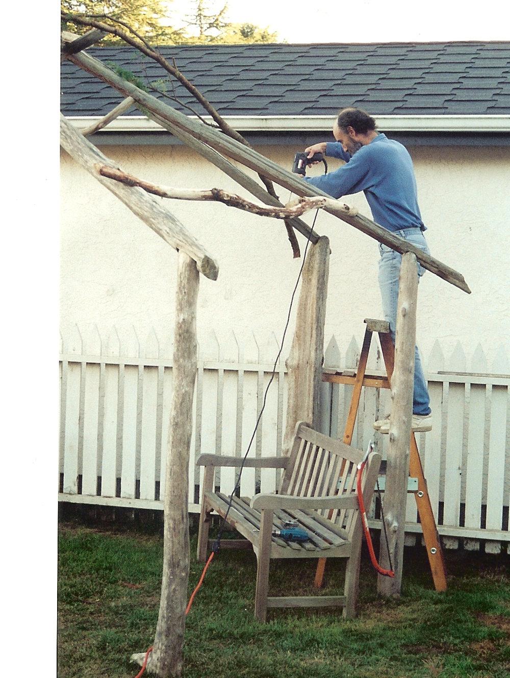 Building a driftwood sukkah