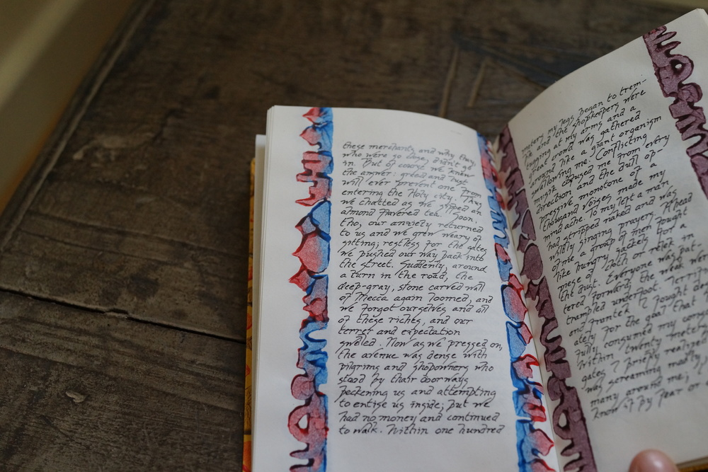 'A Pilgrimmage tu Mecca', hand bound edition with roller decorations