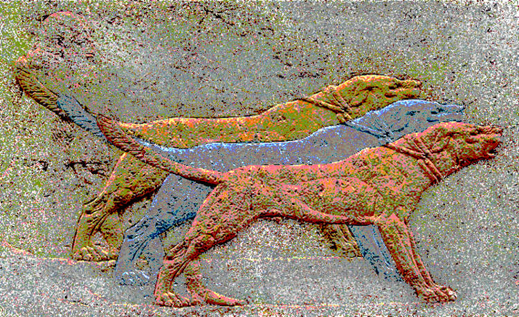 Assyrian hunting dogs, 1