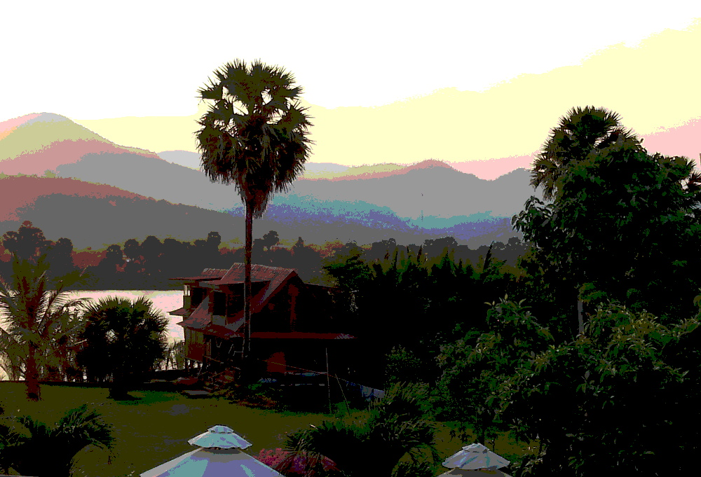 view from Villa Vedici, Kompot, Cambodia