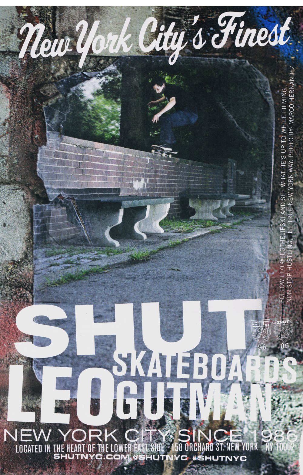 SHUT SKATEBOARDS LEO GUTMAN AD 2016