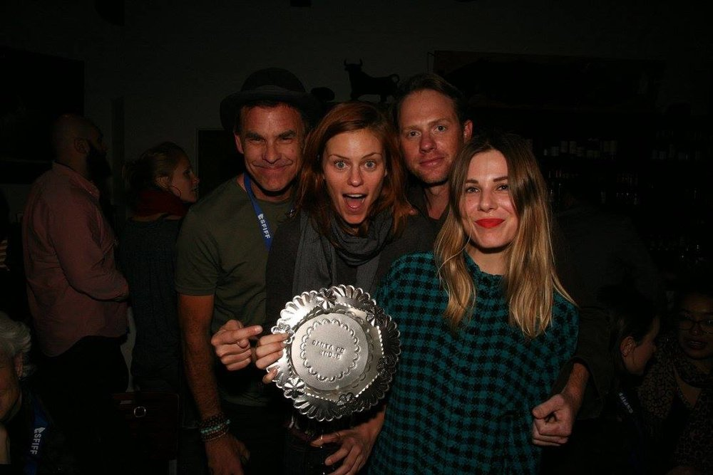 Johnny Long, Cassidy Freeman, Arron Shiver, Cheryl Nichols hold the award for Best New Mexican Narrative Feature.