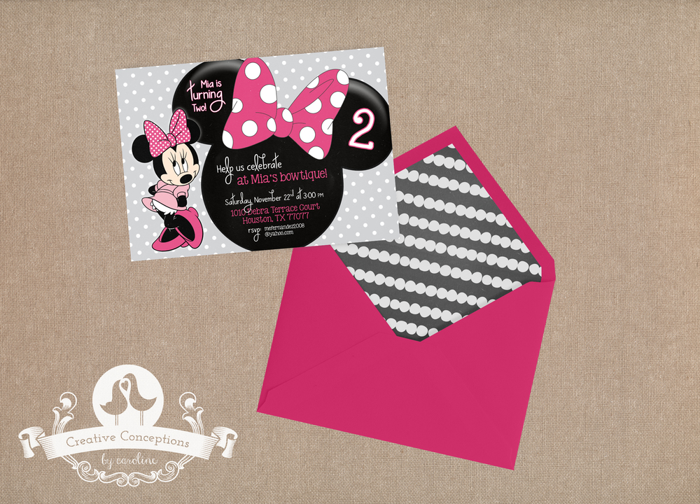 Minnie Mouse Birthday Party Invitation — Creative Conceptions by ...