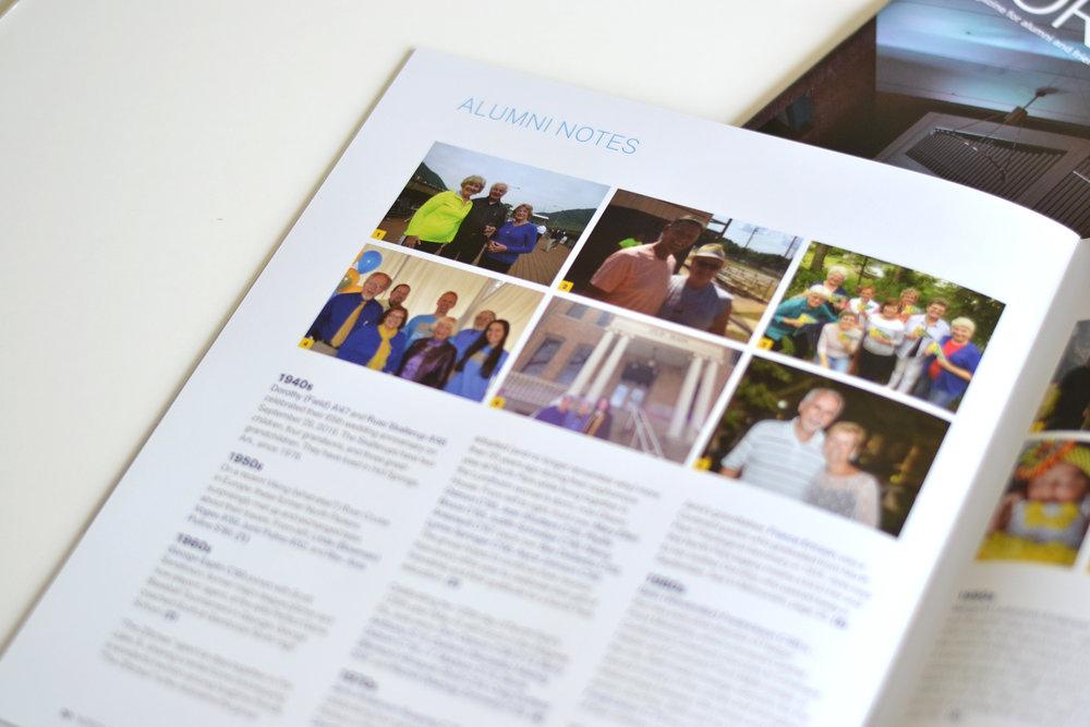 University alumni magazine design