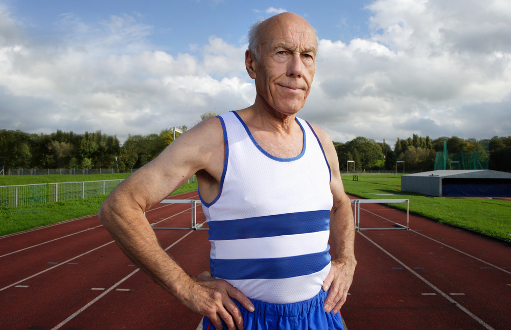 Peter Field,  Over 75 UK record holder, 300 Metres Hurdles