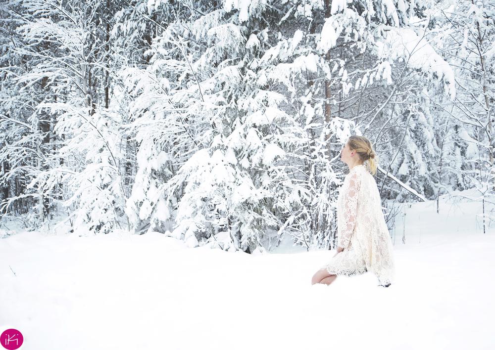 iki in de sneeuw