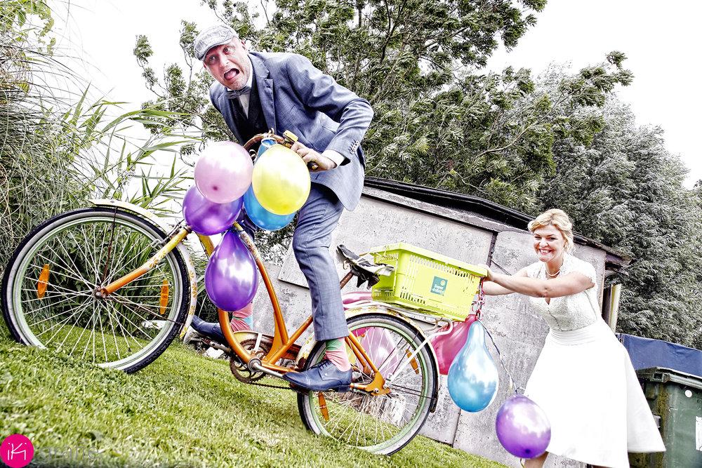 als voorbereiding voor hun romantische fietstocht naar Parijs