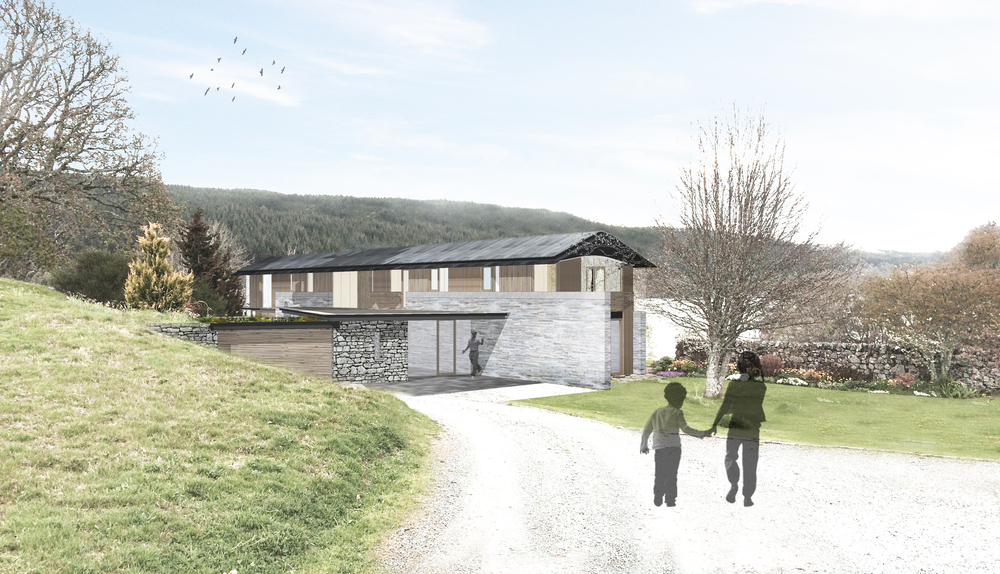 WTArchitecture - new house at Loch Tummel