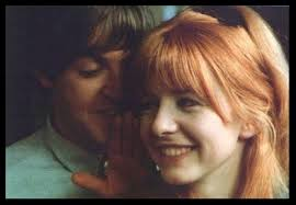 Paul with my favorite Beatle girl friend Jane Asher