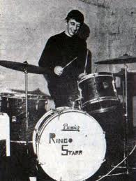 Ringo on drums for Rory Storm and the Hurricane's advertising his new stage name.