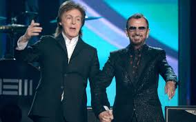 All we've got is a photograph. Surviving Beatles Paul McCartney and Ringo Starr at 2014 Grammy Awards.