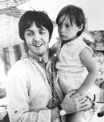 """Paul with Julian Lennon, the inspiration for """"Hey Jude""""."""
