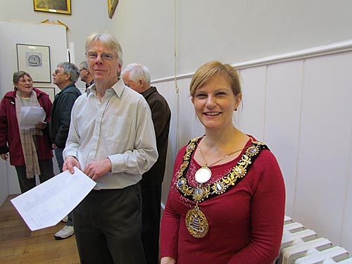Mayor Jo Broom at the Opening with Chairman Richard Ramsey - click for video