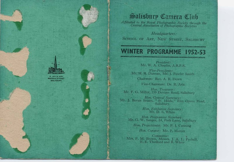 Programme 1952-1953