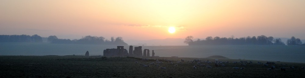 Sunrise Over Stonehenge by Dave Horsecroft