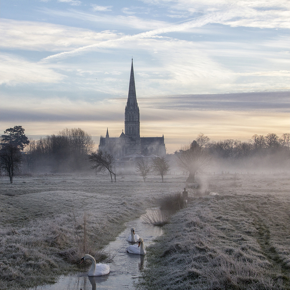 'Salisbury Cathedral Misty Morning' by Tony Oliver ARPS, CPAGB, BPE