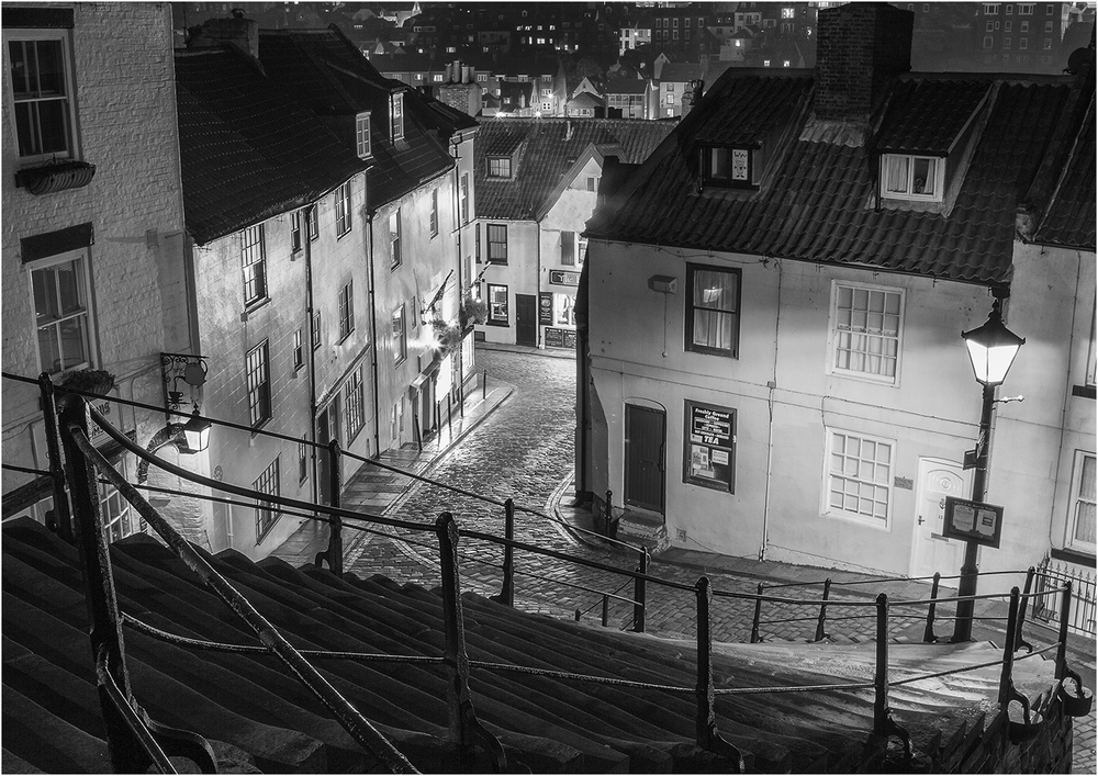 'Whitby at night' by Tony Oliver