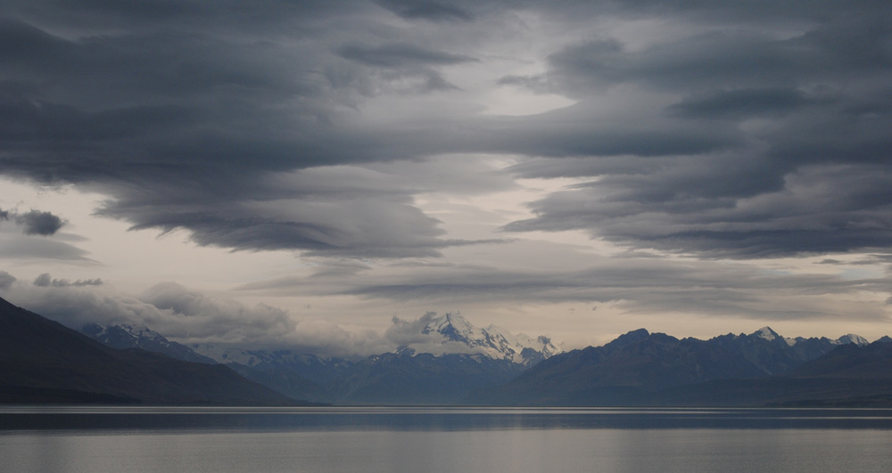 'Clouds over Mount Cook' by Dave Horscroft