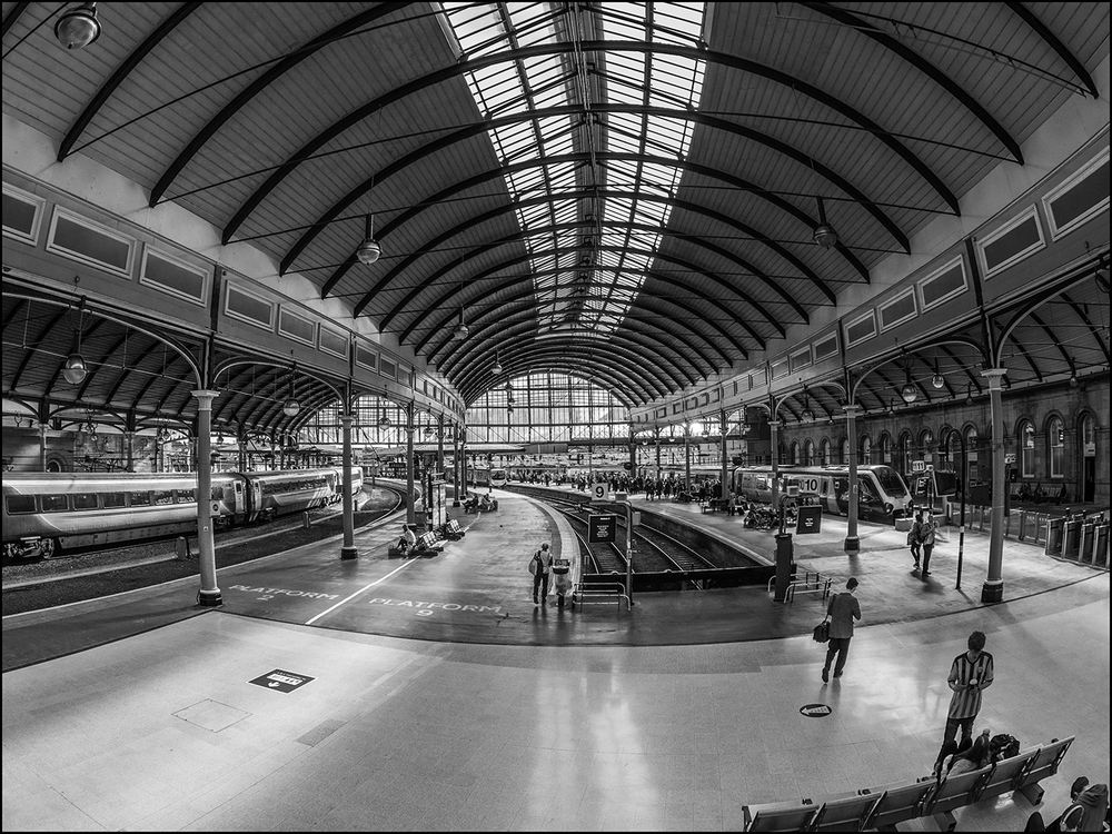 Winner 'Newcastle Train Station' by Mandy Herridge