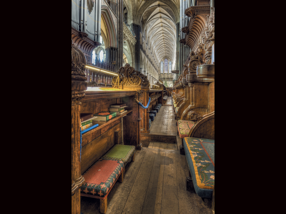 'Salisbury Cathedral Choirstalls' by John Barton