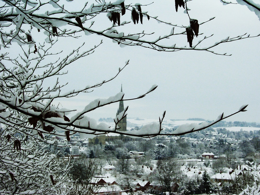 'Salisbury in the snow' by Graham Chubb