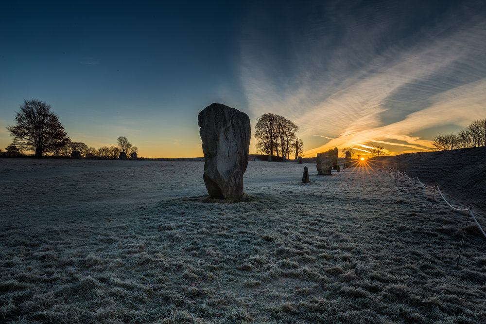 First 'Avebury Stones at Dawn' by John Barton