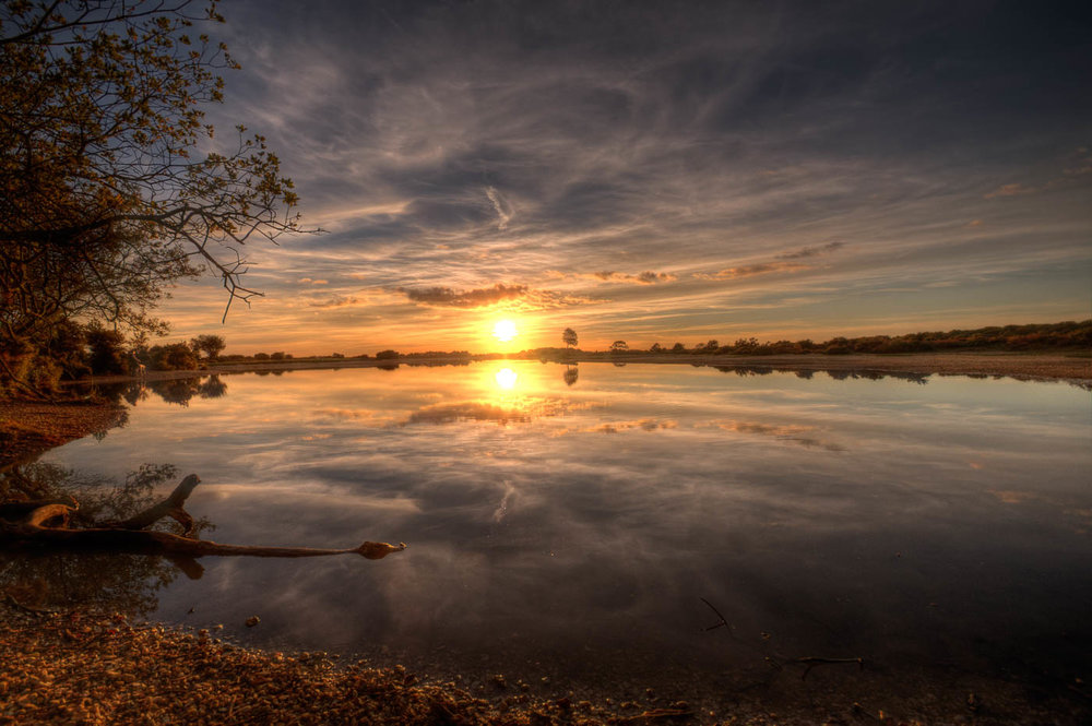 Second 'Sunset with Natural Mirror' by John McNeilly