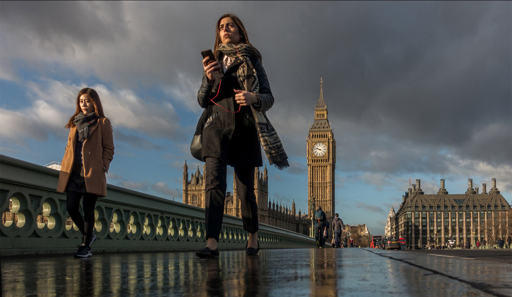 """London Scene' by Martin Cook"