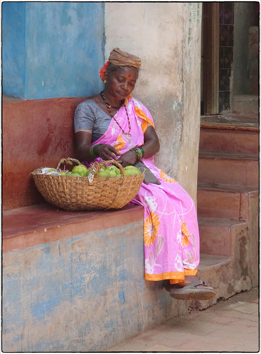 Indian Fruit Seller' by Sally Money