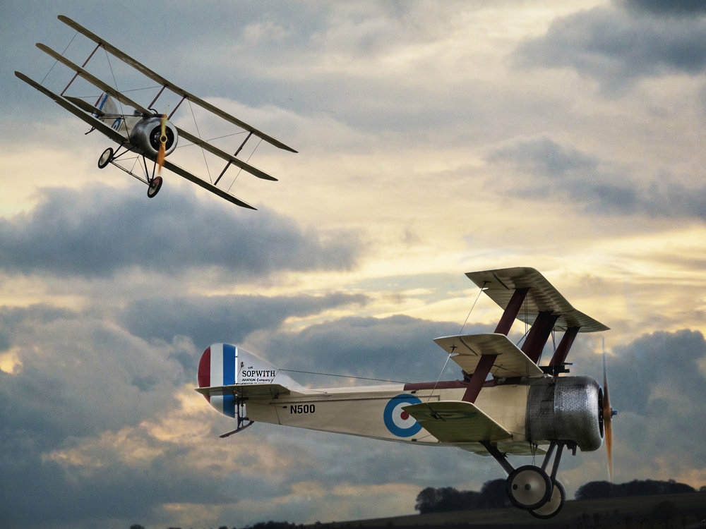 First 'Sopwith Triplanes' by Ian Porter