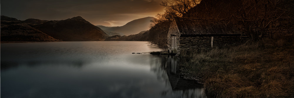 First 'Llyn Dinas Boathouse' by John Barton