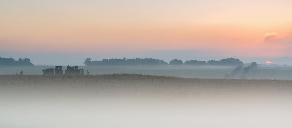 First 'Misty Stonehenge Sunrise' by Mark Cooper