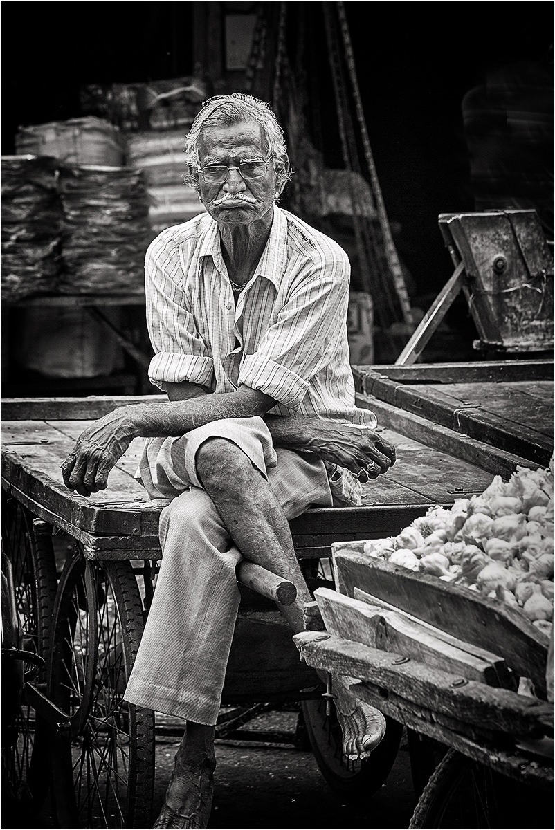 First 'Garlic Seller' by Tony Oliver