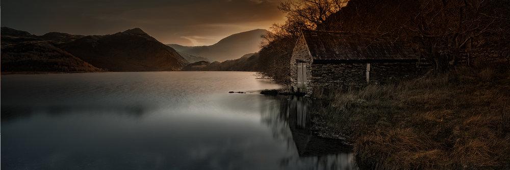 First 'Llyn Dinas Boathouse' by John Barton