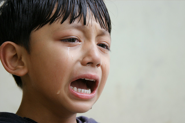 Child Crying at a Wedding Ceremony