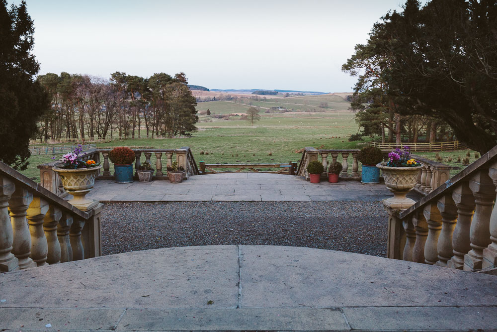 View of the Northumberland Countryside from Woodhill Hall