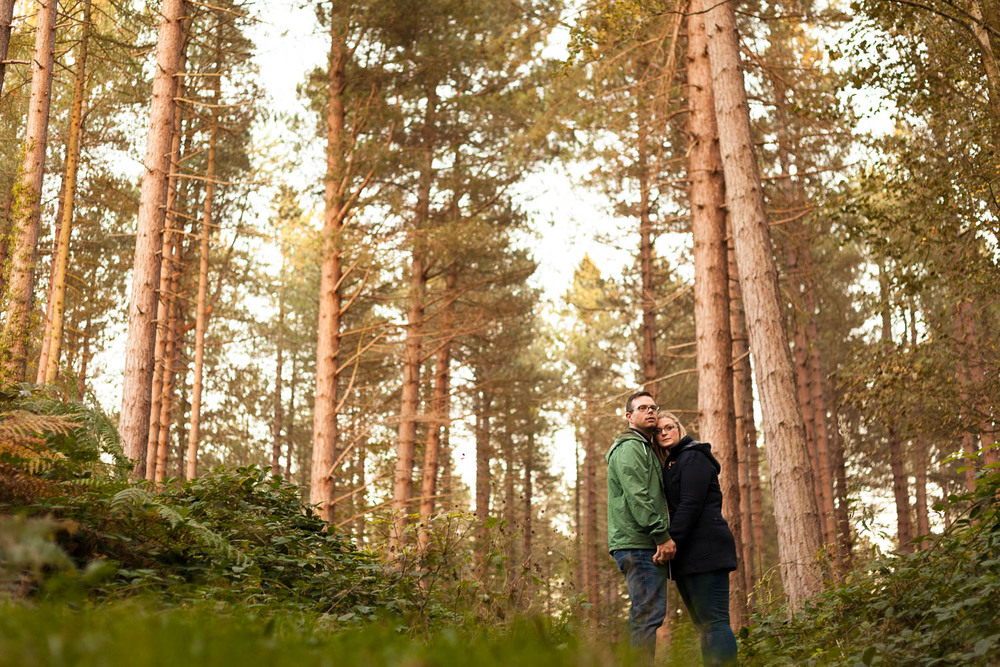 Alan and Kat pre-wedding shoot at Chopwell Woods