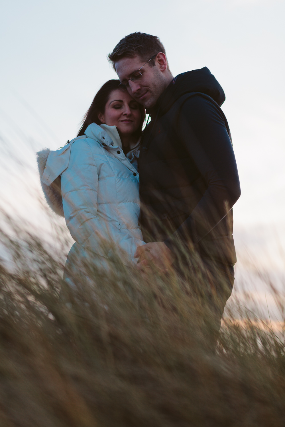 Northumberland Engagement Photographer // Nadia & Andrew // In the Sand Dunes