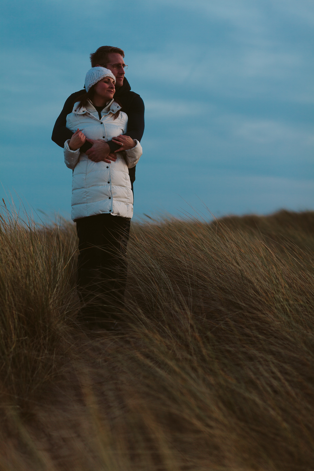 Northumberland Engagement Photographer // Nadia & Andrew // Looking Out to Sea