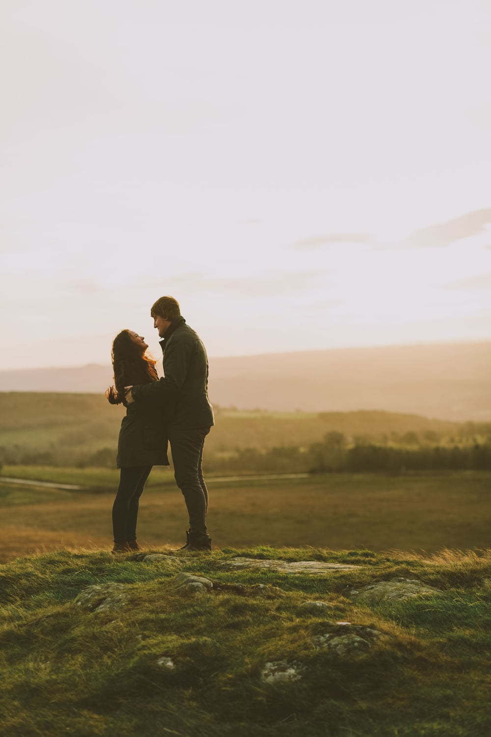 Northumberland Engagement Photograph // Rebecca & Chris // At sunrise
