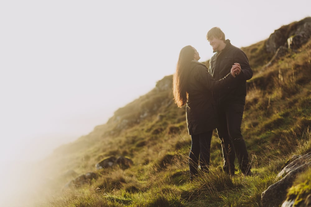 Northumberland Engagement Photograph // Rebecca & Chris // At Golden Hour