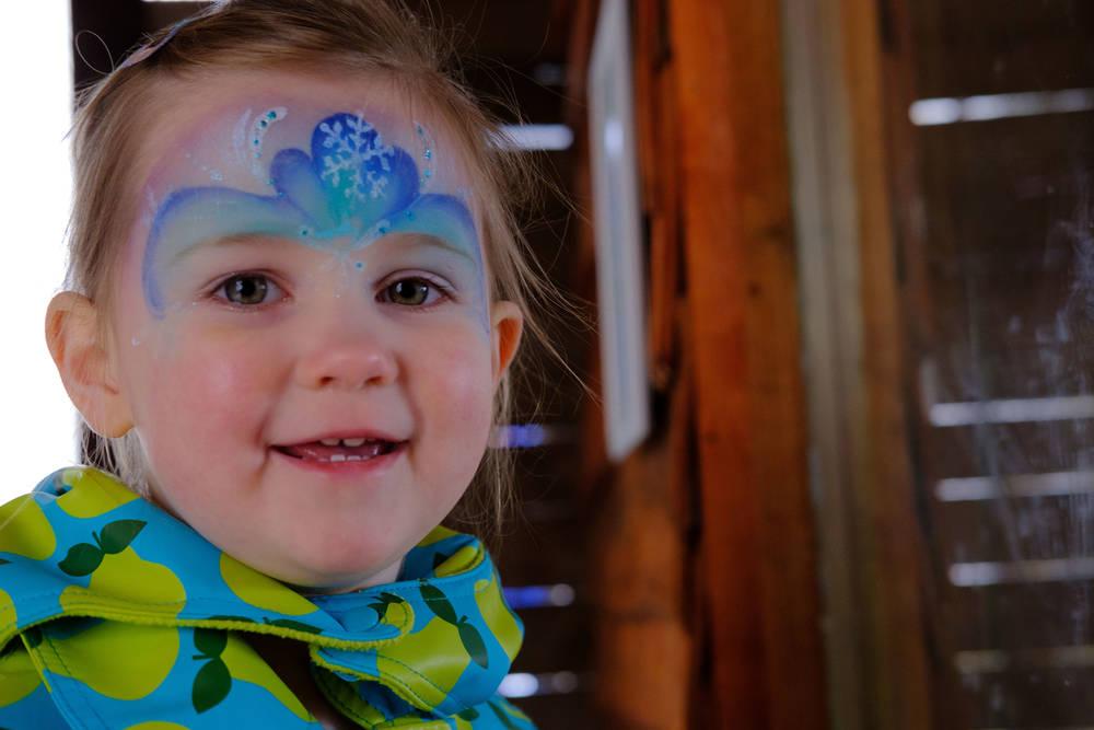 Audrey at smiling in barn at Eshottheugh Animal Park, Northumberland