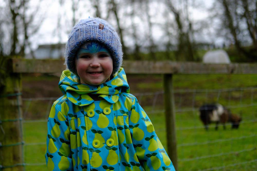Audrey smiling at Eshottheugh Animal Park, Northumberland